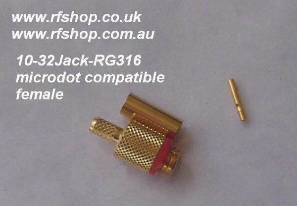 10-32Jack-RG316 Microdot Compatible Female-0