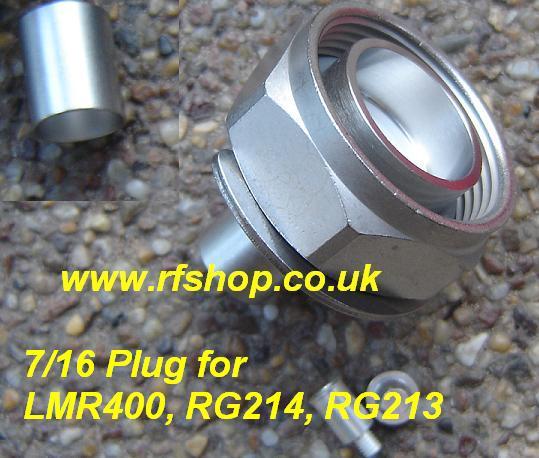 716-3100-L400, 7/16-3100-L400, 7/16 connector, male, LMR400, LMR400, RG214,RG213-0