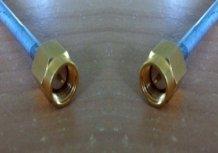 """SMA Plug to SMA Plug, Tinned 0.141"""" Semi Rigid, 0.5m A30A30-141T-50cm-0"""