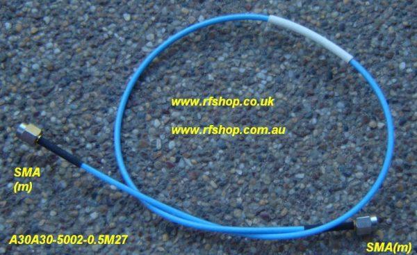Precision Coaxial Cable Assemblies, A30A30-5002-0.5M27-0