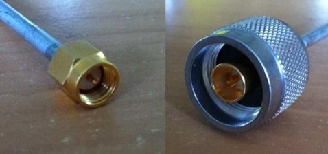 "SMA Plug to N Plug, Tinned 0.141"" Semi Rigid, 1m A30N30-141T-100cm-0"