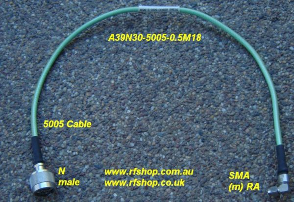 Precision Coaxial Cable Assemblies, A39N30-5005-0.5M18-0
