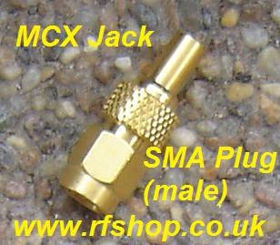 JyeBao Adapter - SMA Plug (Male pin) to MCX Jack (Female pin) AD-A3D8-0