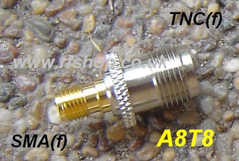 JyeBao Adapter - SMA Jack (Female pin) to TNC Jack (Female pin) AD-A8T8-0