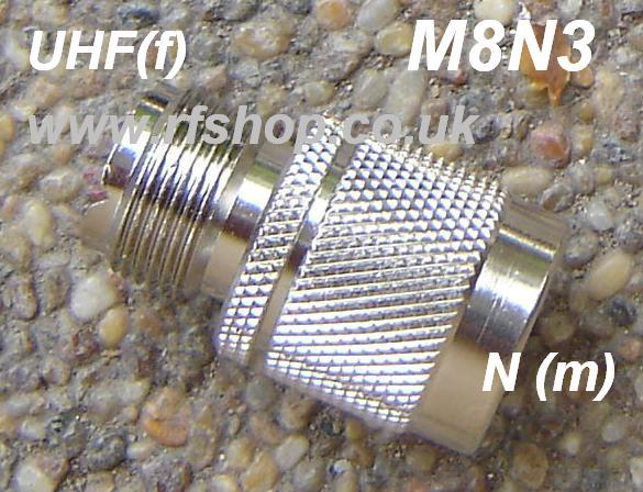 Adapter - UHF Jack (Female pin) to N Plug (Male pin) CH-MJ-NP-0