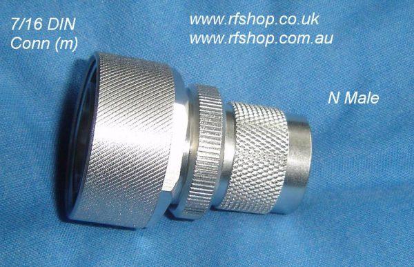 JyeBao Adapter - N Plug (Male pin) to 7/16 Plug (Male pin) AD-N3DI8-0