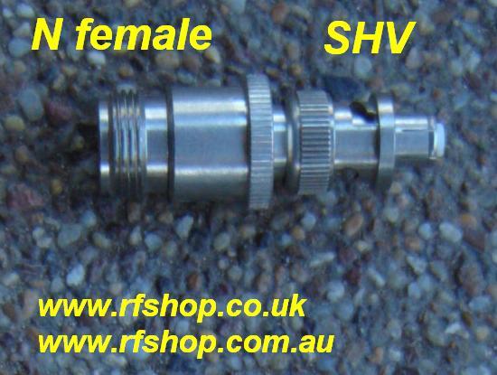 JyeBao Adapter - N Jack (Female inner pin) to SHV Plug (Female inner pin) AD-N8V3-0