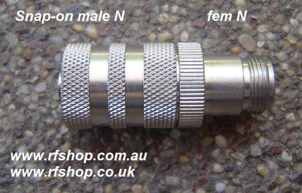 JyeBao Adapter - Quick Fit N Plug (Male pin) to N Jack (Female pin) AD-NQ3N8-0