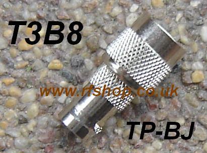 JyeBao Adapter - BNC Jack (Female pin) to TNC Plug (Male pin) AD-B8T3-0