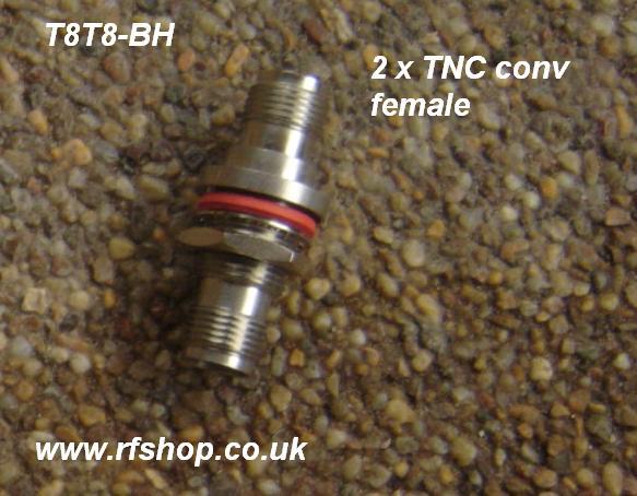 JyeBao Adapter - TNC Jack (Female pin) to TNC Jack (Female pin) - Bulkhead Version AD-T8T8-BF-0