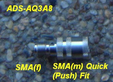 JyeBao Adapter Quick or Push fit SMA(m) -SMA (f) connector savers, ADS-AQ3A8 ADS-AQ3A8-0
