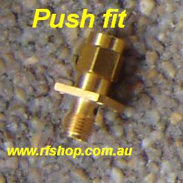 JyeBao Adapter - Quick Fit SMA Plug (Male pin) to SMA Jack (Female pin) ADSG-AQ3A8-0
