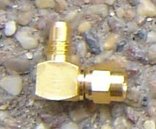JyeBao Adapter - SMC Plug (Male pin) to SMC Jack (Female pin) - Right Angle Version AL-MC3MC8-0