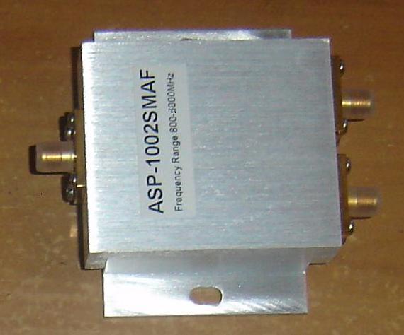 800-2500 MHz SMA Jack (Female pin) 2 Way Splitter, ASP1002SMAF ASP1002SMAF-0