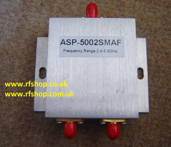 2400-5900 MHz SMA Jack (Female pin) 2 Way Splitter ASP5002SMAF-0