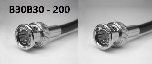 BNC Plug to BNC Plug, 200 series cable, 2m B30B30-200-2000-0