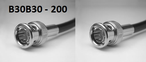 BNC Plug to BNC Plug, 200 series cable, 5m B30B30-200-5000-0
