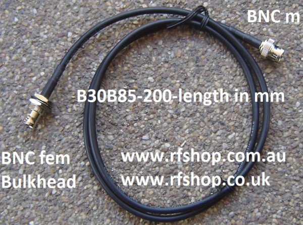 BNC Plug to BNC Jack, 200 series cable, 1m B30B85-200-500-0