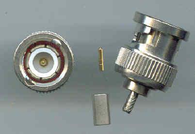 Mini BNC Connector male pin , RG316-0