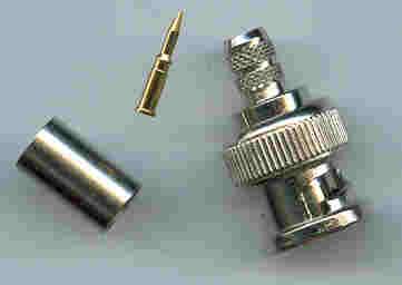 BNC3100-L240, BNC Connector, male pin , 240-0
