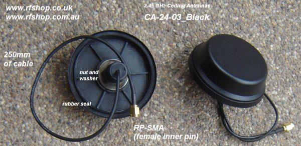 2.45GHz Wireless Ceiling Aerial Antenna RP-SMA Connector, Black, 3dBi gain-0