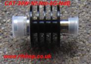Attenuators, High Power, Coaxial, N type, 20W DC-8GHz (10GHz), 3dB CAT-20W-Nf-nM-8G-3dB-0