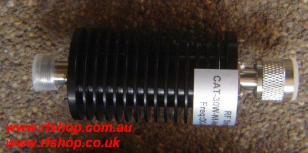Attenuators, High Power, Coaxial, N type, 30W DC - 3GHz, 30dB, CAT-30W-Nf-Nm-3G-30dB-0