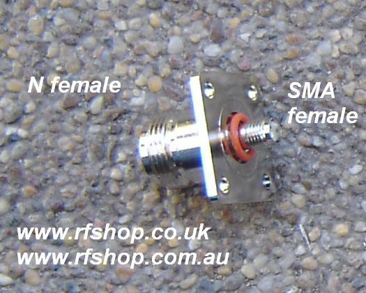 CH-AJ-NJ-4H-FL, adaptor, sma female, n female, 4 hole, 25.4 mm flange-0