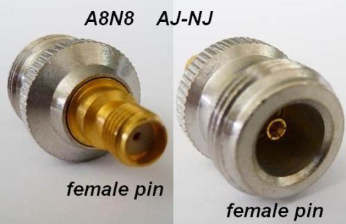 adaptor, SMA jack, female pin, to N jack, female pin CH-AJ-NJ-0