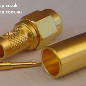 SMA Connector, male inner pin, plug, LMR 240, crimp. CH-AP-240-0