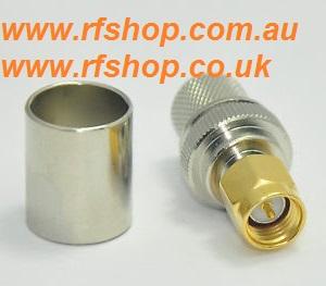 SMA plug for LMR400 crimp-0