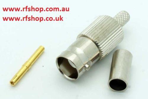 Coaxial Connector BNC jack, female inner pin, RG58, LMR195, Crimp,CH-BJ-58-0