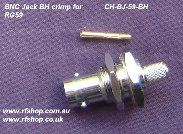 BNC Bulkhead Jack (Female pin) suit RG59 CH-BJ-59-BH.-0