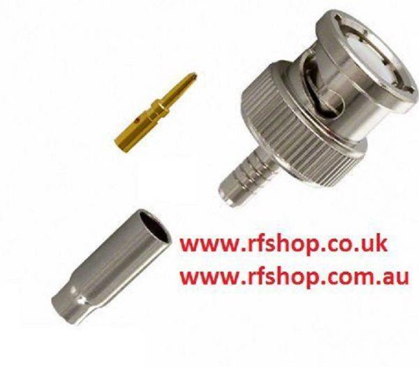 Coaxial Connector BNC plug, male inner pin, RG316, RG174, Crimp, RG188 CH-BP-316-0