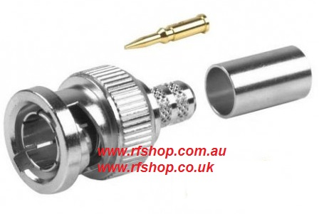 Coaxial Connector BNC plug, male inner pin, RG59 CH-BP-59-0