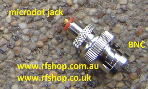 Adapter BNC male pin (plug) to Microdot female pin (jack) CH-BP-MDJ-0