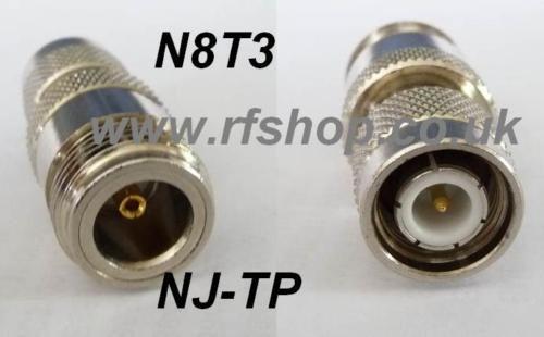 adaptor, N jack female pin to TNC plug, male pin CH-NJ-TP-0