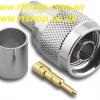 Coaxial, N connector Plug, N male, fits LMR400, Crimp, CH-NP-400-0