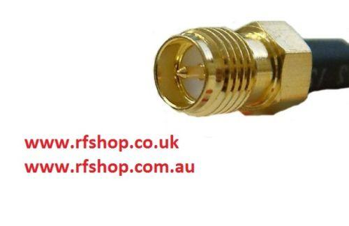 RP-SMA Connector, male inner pin, jack, RG58, LMR195, crimp CH-RAJ-58-0