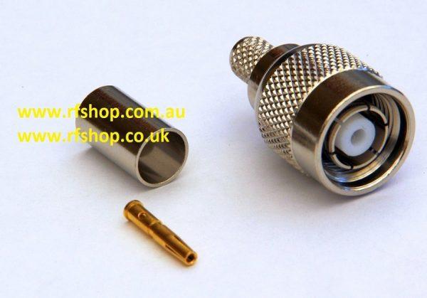 RP-TNC Plugs, fem pin,Cmp, Fits LMR240-0