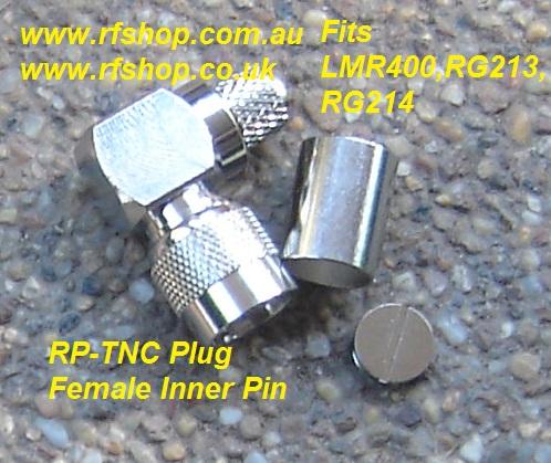 TNC Connector, RP, Crimp, Right Angle, LMR400, RG213, RG214-0