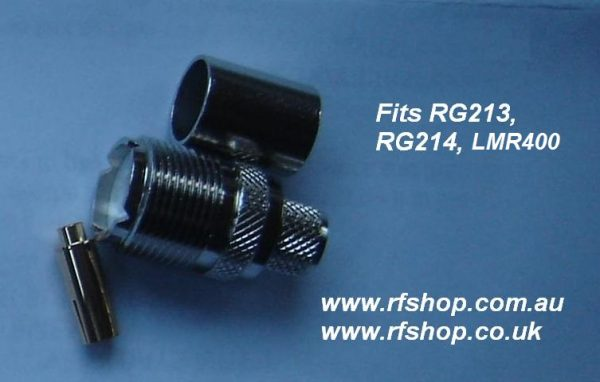 UHF Jack (female pin) suit RG213. RG214, LMR400-0