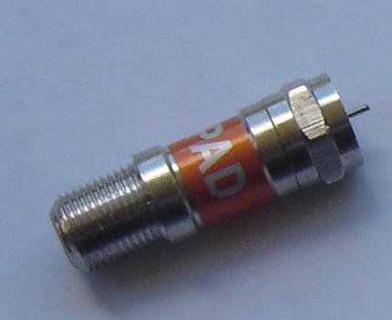 F Attenuator, 12dB FAT-FSA12-0
