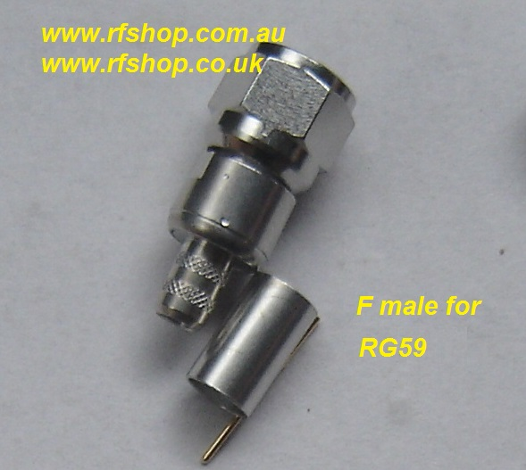 F3100-0059 , F connector, male, RG59-0