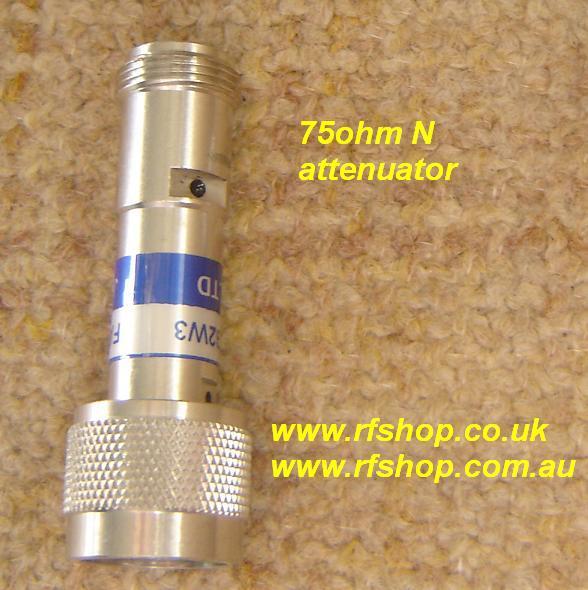 Attenuators, Coaxial, N type, DC -3GHz, 75ohm, 2W, 6dB FAT-NM7NF7T3G2W6-0