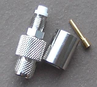 FME-24-15-B-DGN, FME connector, fem pin, LR400, crimp, FME8100-L400-0