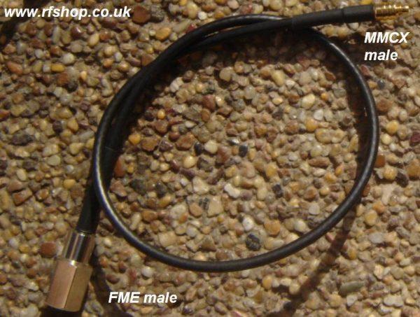 FME30MMCX30-174-300, FME (male) Plug, MMCX Plug, RG174 Cable, Length = 300mm-0