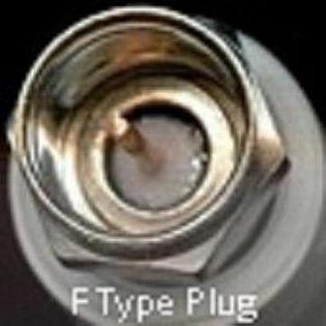 F Connector, male, crimp, fits RG6 F3100-0006-0