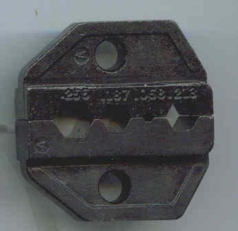 "Crimping Die - 0.255"" (6.5mm), 0.187"" (4.75mm), 0.068"" (1.72mm), 0.213"" (5.4mm) HT-236A-0"