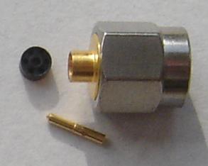 K3300-0085, K Connectors, male pin, solder RG405-0